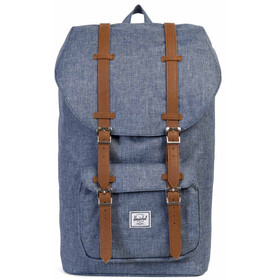 Herschel Little America Backpack Unisex, dark chambray crosshatch/tan